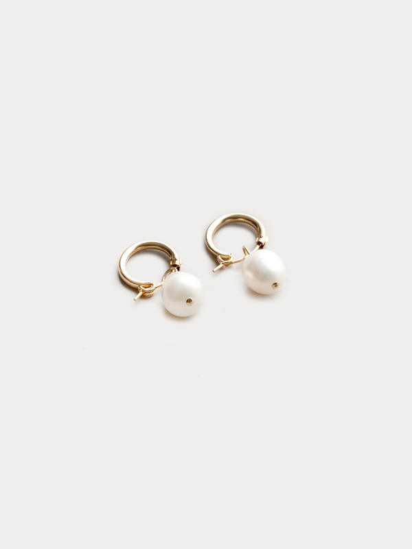 Wolf Circus Pearl Hoops Small