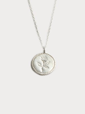 Wolf Circus Rose Coin Necklace
