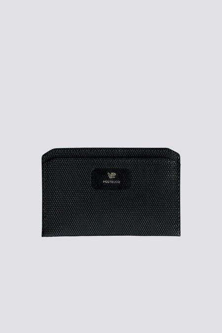 Postalco Crossgrain Leather Flat Wallet - Black