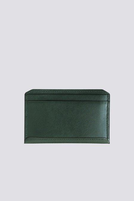 Postalco Crossgrain Leather Flat Wallet - Emerald