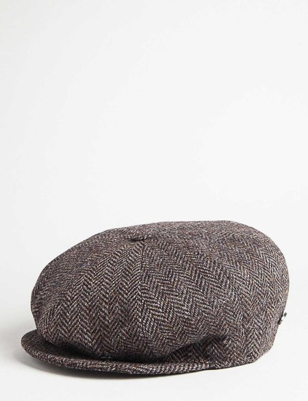 Bailey Hats Galvin Herringbone Newsboy Cap - Brown/Black