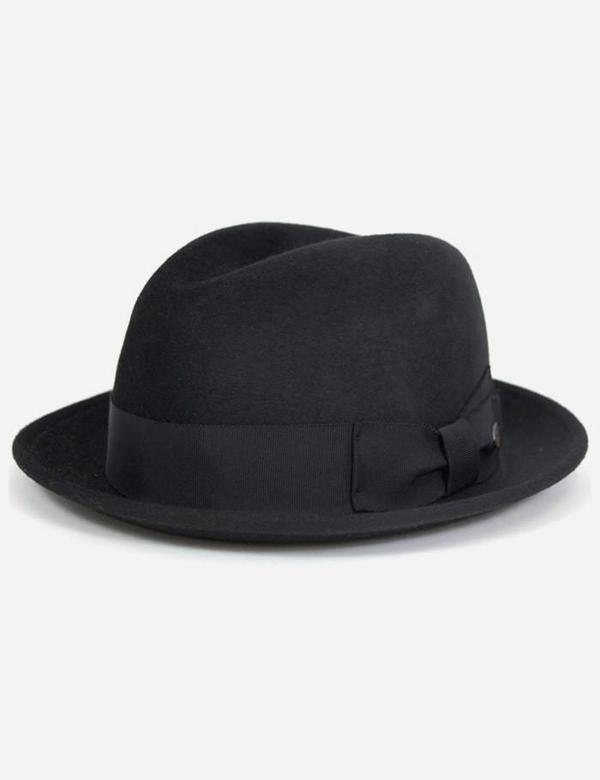 286c67da3f3c9 Bailey Hats Riff Fur Felt Trilby Hat - Black | Garmentory