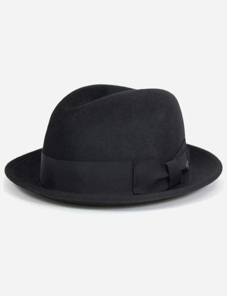 Bailey Hats Riff Fur Felt Trilby Hat - Black
