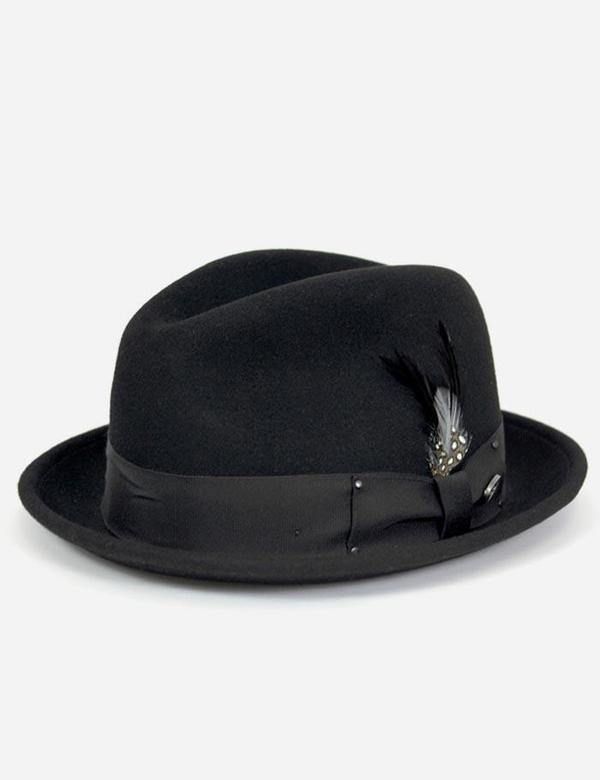 4a4d8a2e Bailey Hats Tino Felt Crushable Trilby Hat - Black | Garmentory