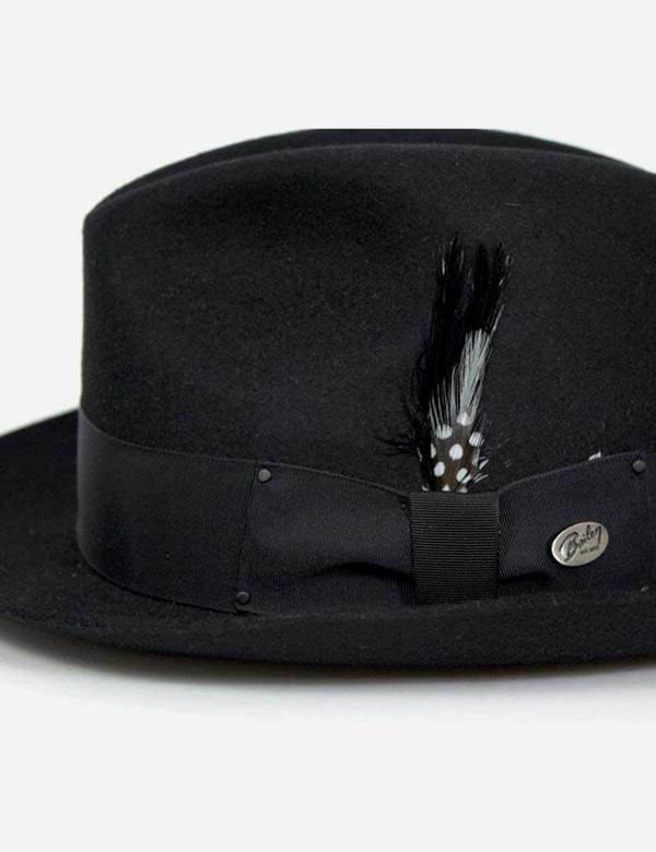 70d1834eb074e Bailey Hats Tino Felt Crushable Trilby Hat - Black