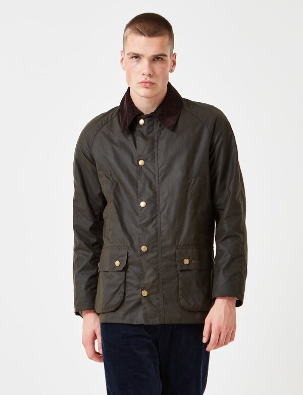 26451ce3529 Barbour Ashby Wax Jacket - Olive Green