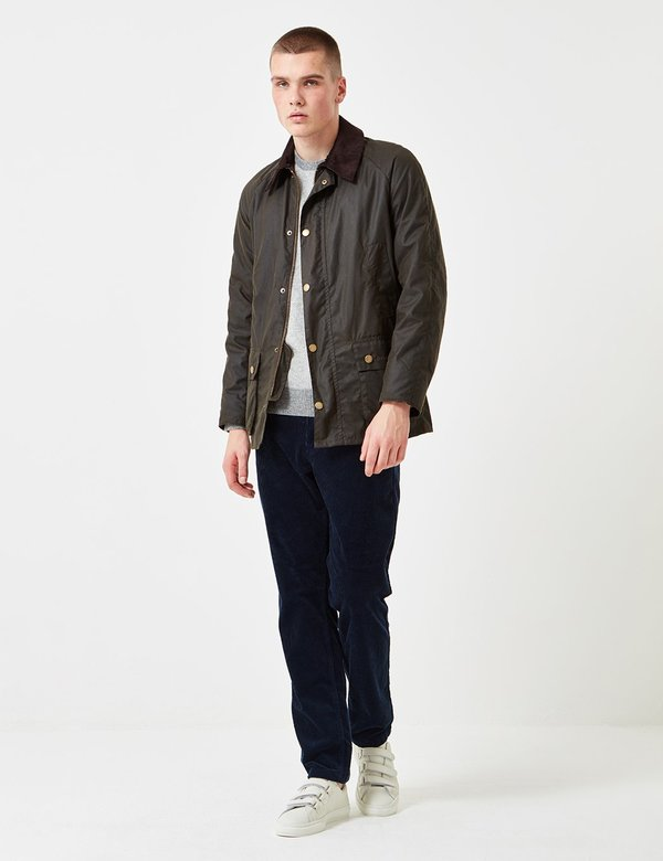 ce4f16bb9 Barbour Ashby Wax Jacket - Olive Green