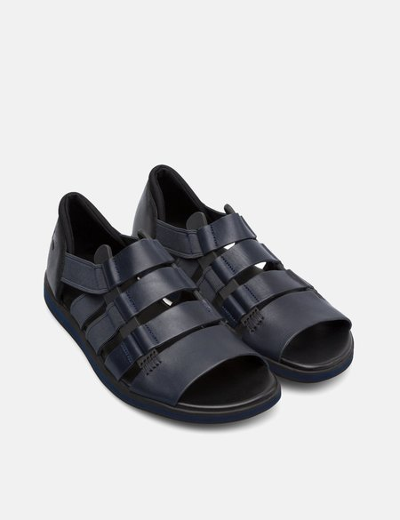 Camper Spray Leather Sandal - Navy Blue
