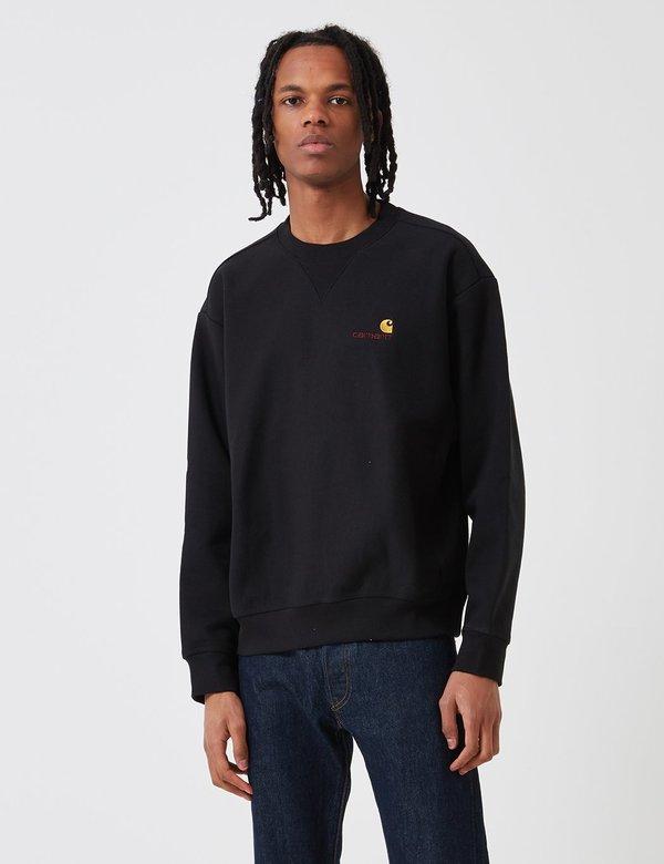 80cefb420cb CARHARTT WIP American Script Sweatshirt - Black   Garmentory carhartt wip  sweatshirt american