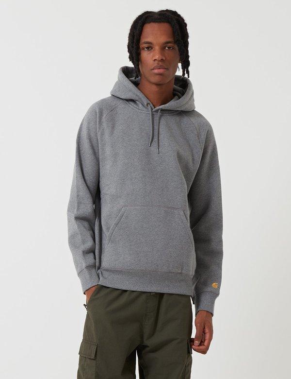 85155688635 CARHARTT WIP Chase Hooded Sweatshirt - Dark Grey Heather | Garmentory