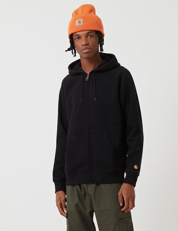 a57eb567 CARHARTT WIP Chase Hooded Zip Jacket - Black | Garmentory