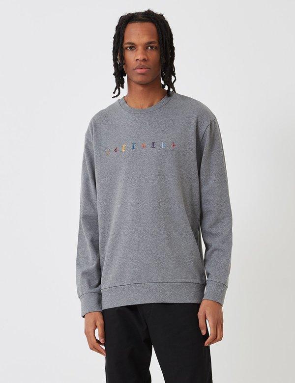 fc83c358c5e CARHARTT WIP Horizontal Sweatshirt - Dark Heather Grey | Garmentory
