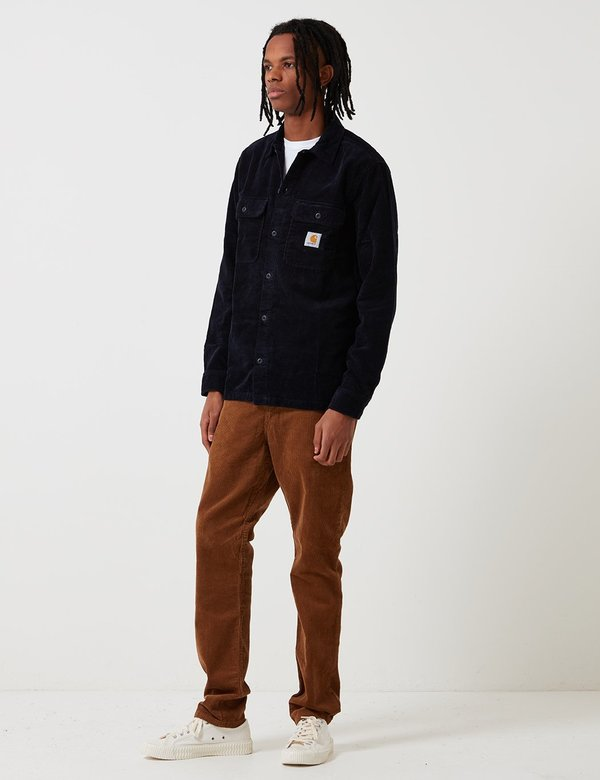 6d0d4c49db6c CARHARTT WIP Long Sleeve Swinton Shirt - Dark Navy Blue. sold out. CARHARTT  WIP