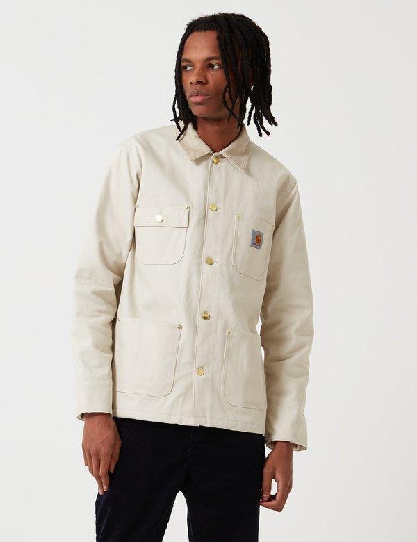 644de5aa77 carhartt wip michigan chore coat in oats rigid CARHARTT WIP Michigan  Blanket Lined Chore Jacket - Oats | Garmentory