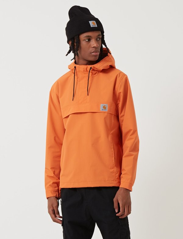 good selling best online top quality CARHARTT WIP Nimbus Half-Zip Un-Lined Jacket - Jaffa Orange on Garmentory