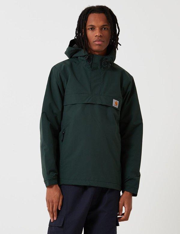 940b1faf CARHARTT WIP Nimbus Fleece Lined Pullover Jacket - Loden Green ...