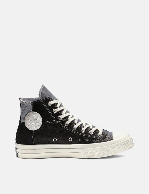 1c1786e5ba0d Converse 70 s Chuck Mixed Material Hi (163220C) - Black Cool Grey Egret