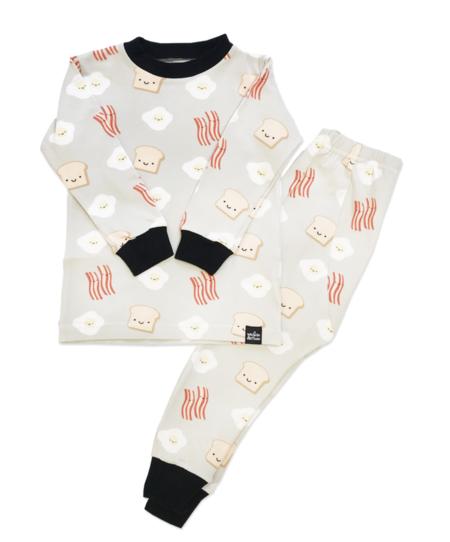 KIDS WHISTLE & FLUTE Kawaii Breakfast Pajama Set - Grey