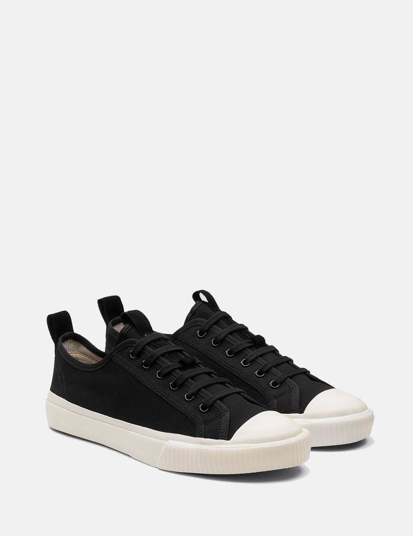 Grenson Low Top Canvas Sneakers - Black