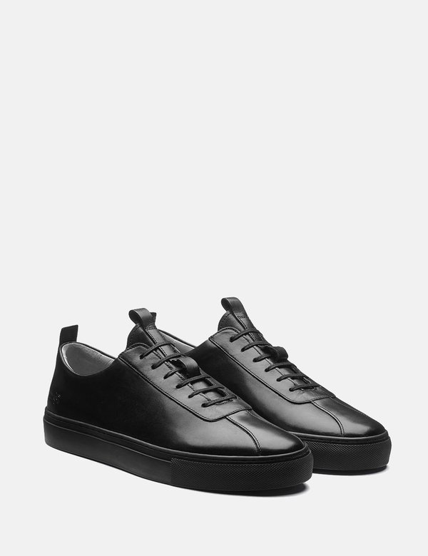 Grenson Leather Sneakers - Black/Black