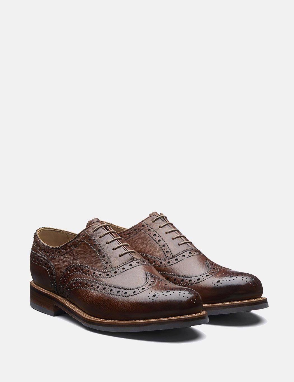 Grenson Stanley Grain Leather Brogue