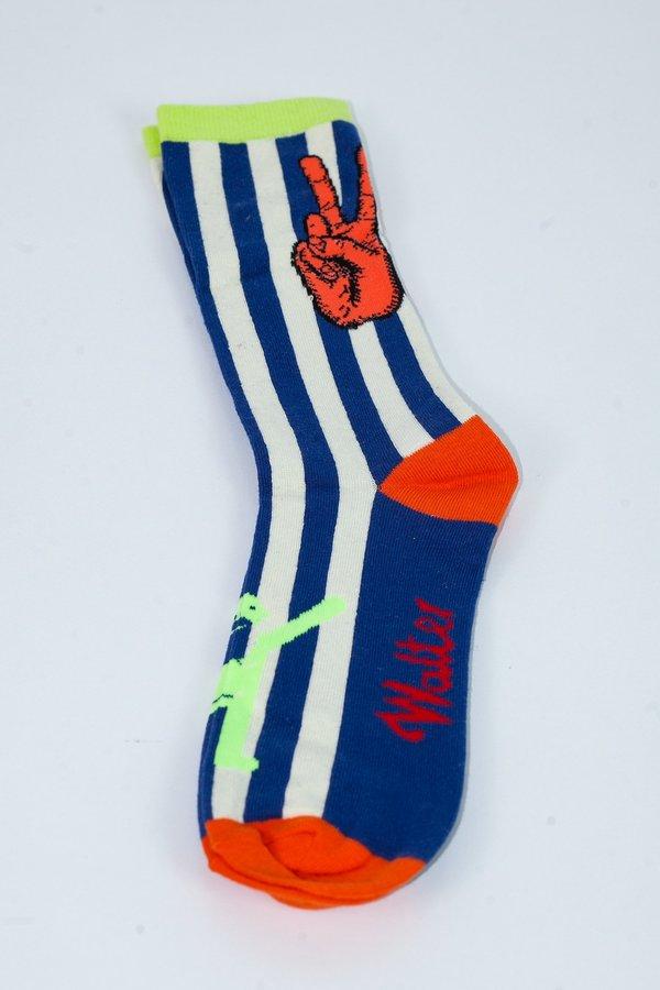 Walter Van Beirendonck W Peace Socks - Blue