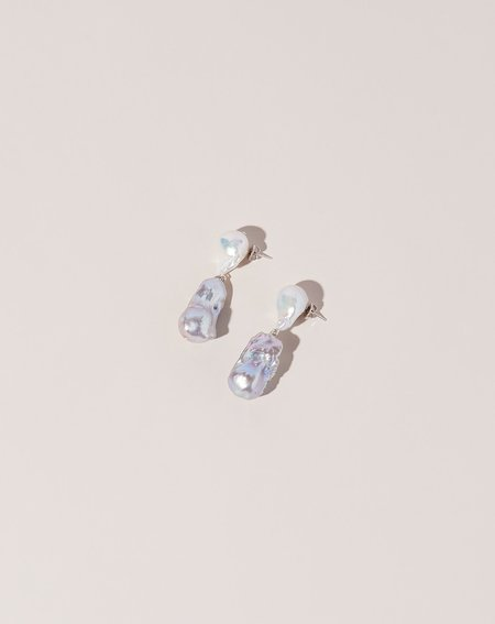 Fry Powers Baroque Pearl Tonal Drop Earrings
