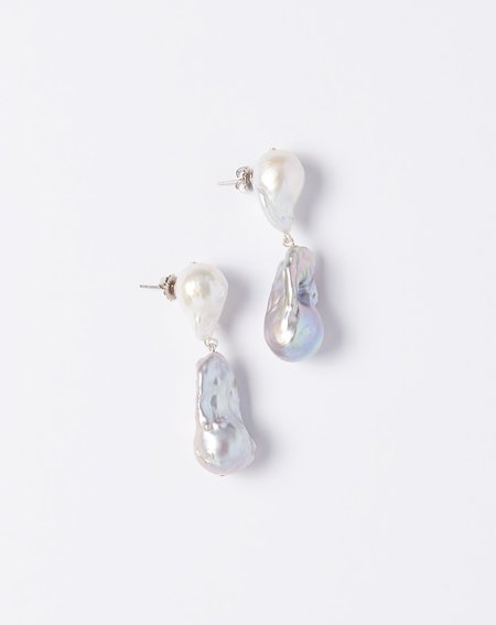 Fry Powers Baroque Pearl Tonal Drop Earrings