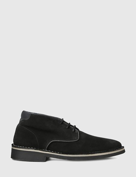 Hudson Margrey Chukka Suede Boots - Black