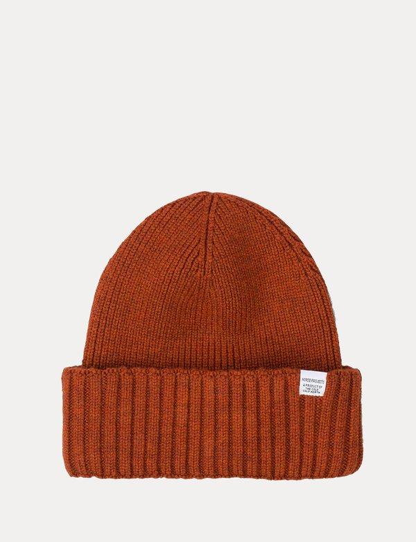 73e56f815 Norse Projects Chunky Rib Beanie Hat - Oxide Orange on Garmentory