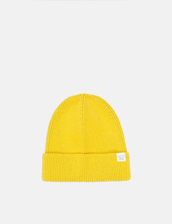 209b6859 Norse Projects Cotton Watch Beanie Hat - Edge Yellow on Garmentory
