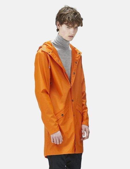 Unisex Rains Long Jacket - Fire Orange