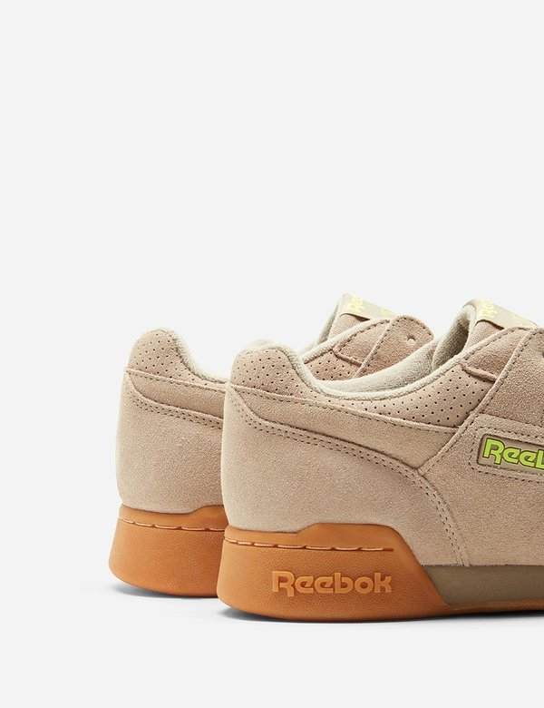 be61667d2fe2a Reebok Workout Plus MU (DV4286) - Sand Beige Neon Lime Gum