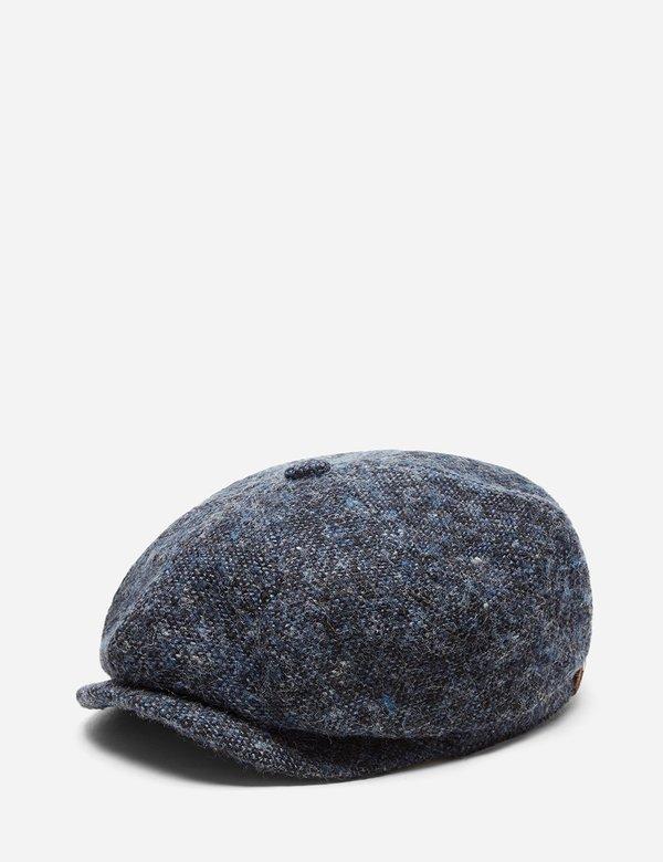 66d922b1e2c STETSON Hatteras Wool Donegal Newsboy Cap - Blue