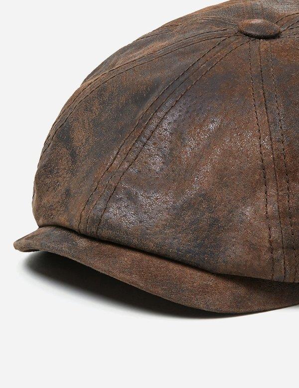 c0161a49 Stetson Hatteras Pigskin Newsboy Cap - Dark Brown | Garmentory