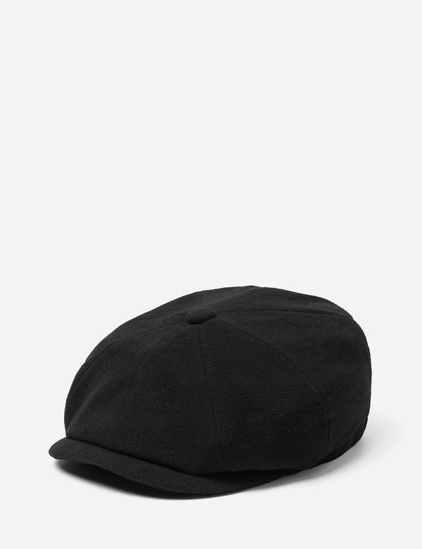486056492 STETSON Hatteras Wool/Cashmere Newsboy Cap - BLACK on Garmentory