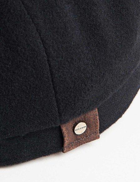STETSON Hatteras Wool Cashmere Newsboy Cap - Black