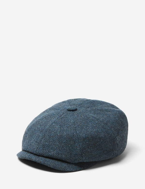 b065285f4 STETSON x Woolrich Hatteras Wool Newsboy Cap - Blue/Grey on Garmentory