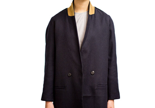 REALITY STUDIO ALPHA LONG NAVY BLAZER