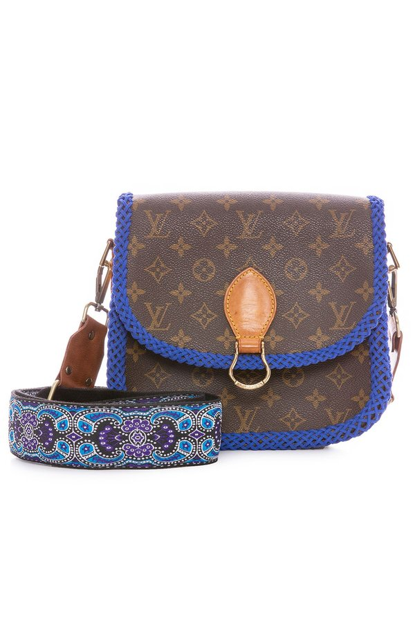 a063775a34eb LV Vintage Saint Cloud GM Crossbody Bag - Blue Braid