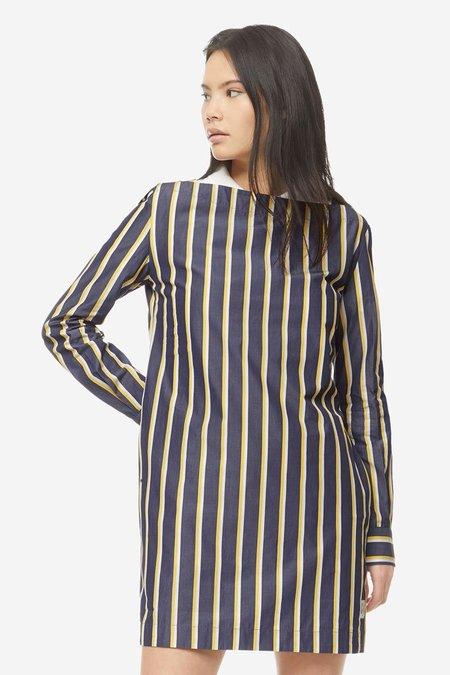 Kitsune Cara Dress - Navy Stripe