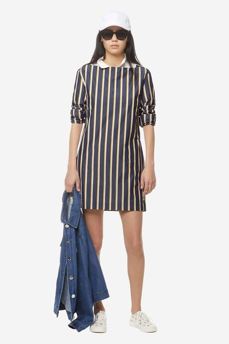 Kitsune Cara Dress - Navy Stripe