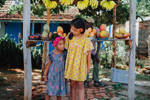 KIDS Louise Misha Costa Dress - Lagoon Leaves
