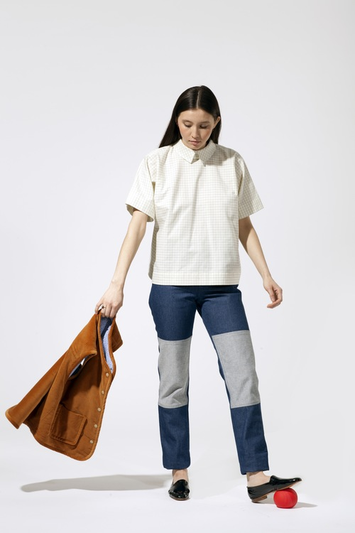 Carleen Two-Tone Jeans