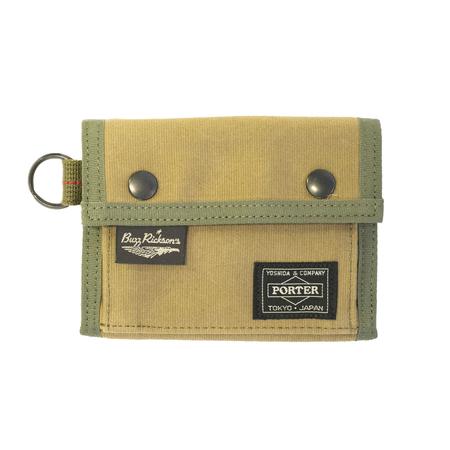 Buzz Rickson's x Porter Jungle Cloth Wallet - Khaki