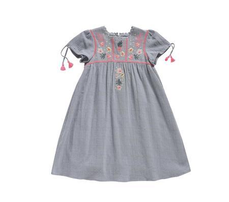 KIDS Louise Misha Coconut Dress - Silver Cloud