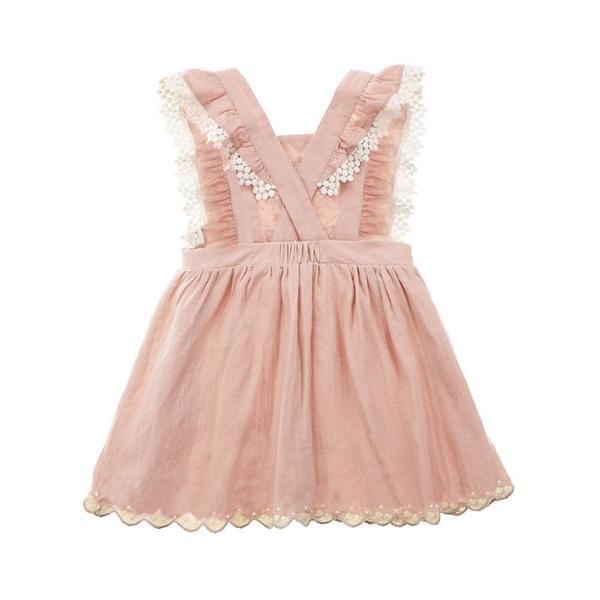 Kids Louise Misha Pinea Dress - Rusty