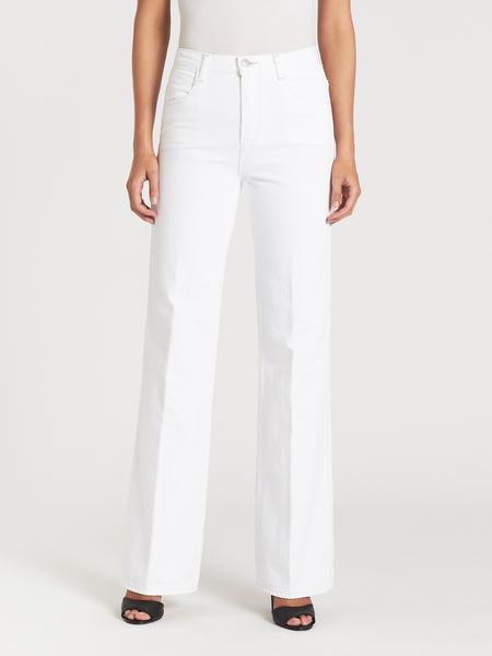 J Brand Joan High Rise Wide Leg Pant - Bright White