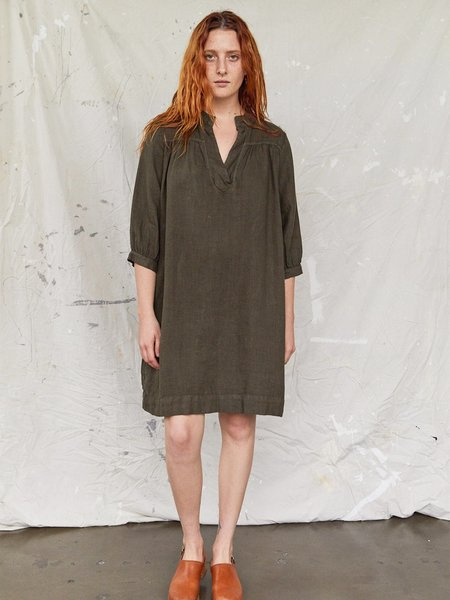 Sugar Candy Mountain The Sabine Linen Dress - Olive