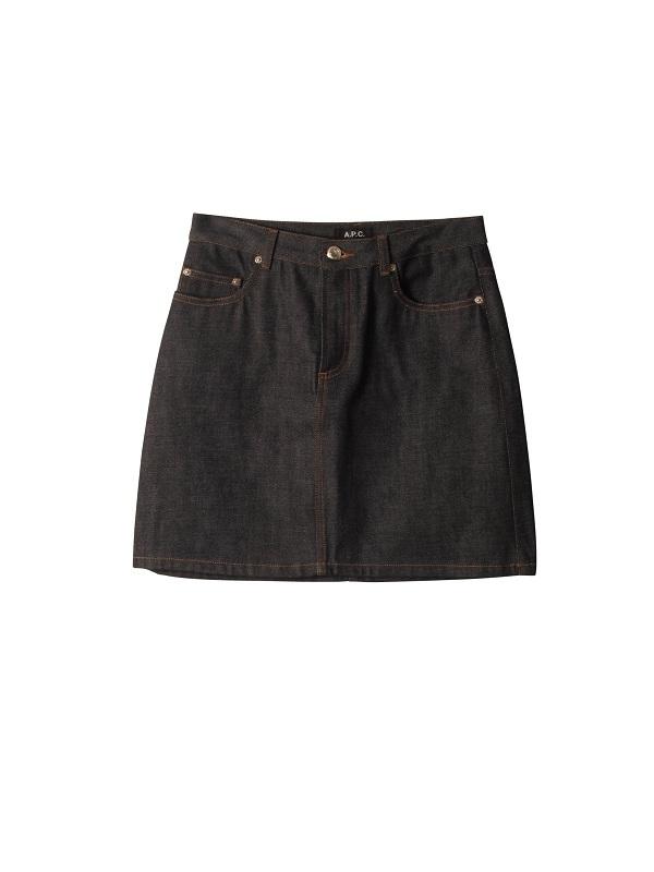 A.P.C. Jupe Standard Skirt - INDIGO